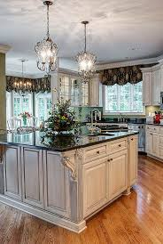 kitchen lighting french country elliptical gold glam glass green