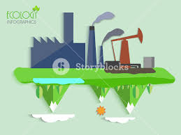 creative ecology infographic template layout with illustration of