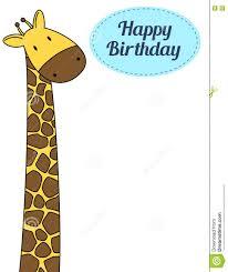 cute giraffe birthday card stock vector image 73532327