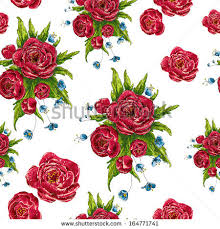 Wallpaper With Flowers Seamless Trendy Red Roses Pattern Vector Stock Vector 706032451