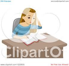 homework design studio clipart of a teenage girl doing homework at a desk royalty free