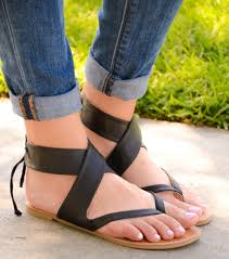 ankle lace up thong sandal black u2013 chica u0027s shoetique