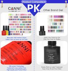 7 3ml sale canni easy soak off uv gel nails varnish uv led