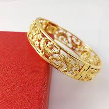 classic gold bracelet images 2018 vintage jewelry plating 24k gold bracelets new fashion brand jpg