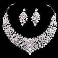Fabuloso Conjunto colar e brincos Cristal Festa - LiFe Noiva #JH62
