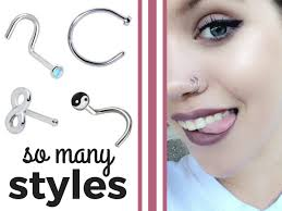 nose piercing rings images Double nose piercings two is better than one bodycandy png