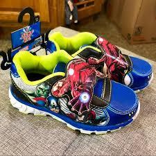 light up shoes size 12 marvel other avengers light up shoes boys size 12 poshmark