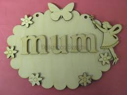 Flowers For Mum - laser cut scalloped plaque with fairy u0026 flowers for mum mothers