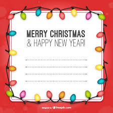 Christmas Light Template Template With Christmas Lights Vector Free Download