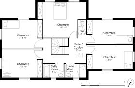 plan de maison a etage 5 chambres plan maison 160 m à étage ooreka