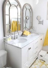 Before And After Small Bathroom Makeovers Big On Style Double - Bathroom mirrors for double vanity
