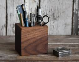 Wood Desk Accessories And Organizers Reclaimed Wood Desk Caddy Medium Desk Organizer Office Desk
