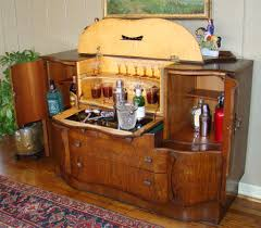 Retro Bar Cabinet Antique Deco Pop Up Martini Bar Liquor Cabinet Vintage