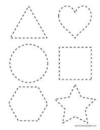 15 best images of tracing basic shapes worksheets heart shape