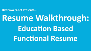 Functional Resume Template Job Resume Walkthrough Education Based Functional Resume