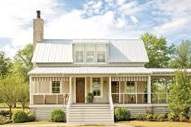 Farmhouse Exterior Farmhouse Exterior Idea With White Wood Skirting Stainless Steel