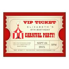 circus invitations announcements zazzle