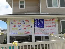 military welcome home decorations homecoming sign whitney clark clark clark seidenstucker marine