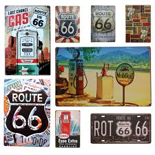 deco route 66 gas station us route 66 vintage home decor tin sign 8