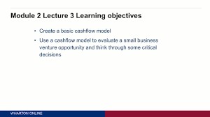 2 3 constructing simple cashflow model university of