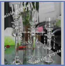 crystal glass goblet candle holder for wedding centerpiece view