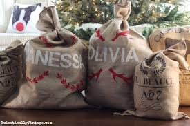 christmas personalized personalized grain sack crafts
