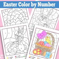 easter coloring pages numbers easter color by numbers worksheets easter kindergarten and easter