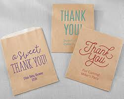 personalized goodie bags personalized thank you kraft goodie bags set of 12 my wedding