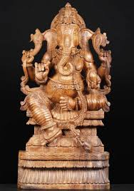 Statues Of Gods by Sold Wood Statue Of The Hindu God Ganesha 37