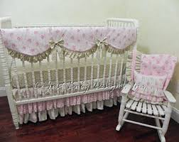 baby crib bedding set carissa pink and gold baby
