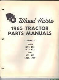 1965 wheel horse tractor parts manual gttalk