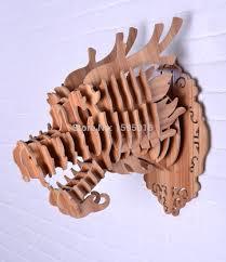 aliexpress com buy white diy wooden dragon head for wall