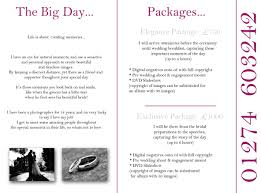 wedding packages prices photographer price list and packages search photography