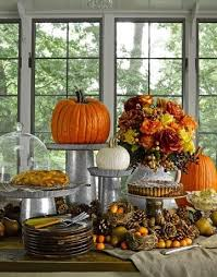 thanksgiving fall centerpieces for buffet table galvanized