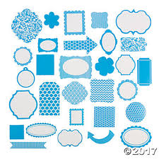 turquoise monochromatic die cut shapes trading