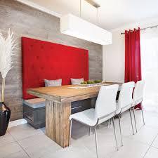 banquette de cuisine banquette design dans une cuisine au look lounge salle à manger