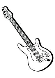 large guitar coloring page best of guitar coloring page images guitar coloring page large