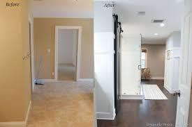 engineered hardwood flooring in bathroom
