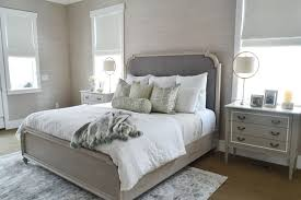 Gray Grasscloth Wallpaper by My Master Bedroom Refresh Sita Montgomery Interiors