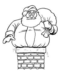 fat santa claus trouble christmas coloring fat santa