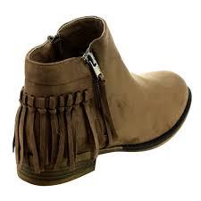 s boots with fringe fringe zip flat heel ankle booties black navy