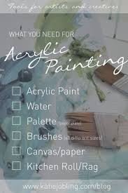 what you need to start acrylic painting katie jobling art