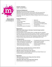 Freelance Artist Resume Creative Graphic Resume Designs Recentresumes Com