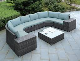 Modern Outdoor Coffee Table Black Modern Patio Sectional Sofa W Coffee Table