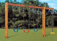Backyard Swing Set Plans by Timber Frame Swing Set Plan Grand Kids Swings And Backyard