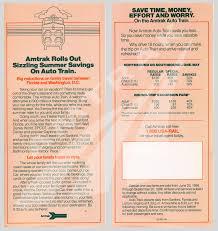 Amtrak California Zephyr Map by Auto Train Flyer 1986 U2014 Amtrak History Of America U0027s Railroad
