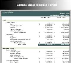 Excel Balance Sheet Template by Business Plan Balance Sheet Template Excel Haisume