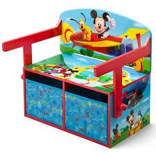 mickey bureau banc enfant convertible avec rangements achat
