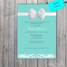 elegant sweet 16 invitations elegant style blue white invitation white bow bridal shower