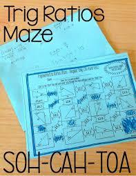 trigonometric ratios sine cosine u0026 tangent maze solving for